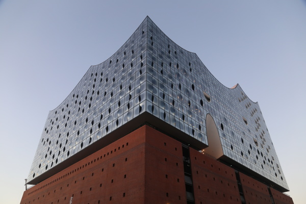view on elbphilharmony