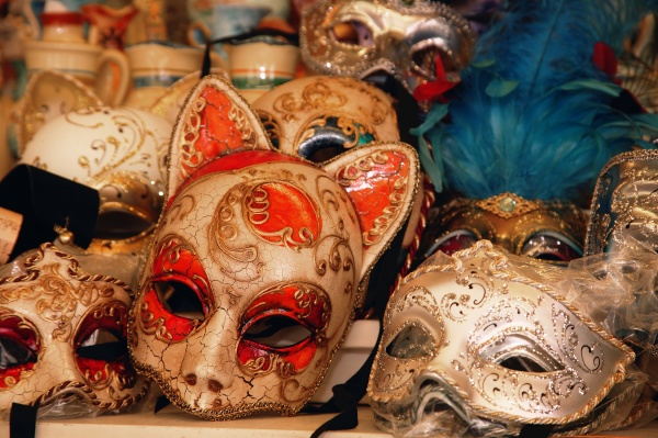 masken auf dem display im shop