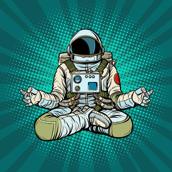 yoga astronaut lotus pose meditation und