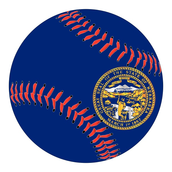 nebraska flagge baseball