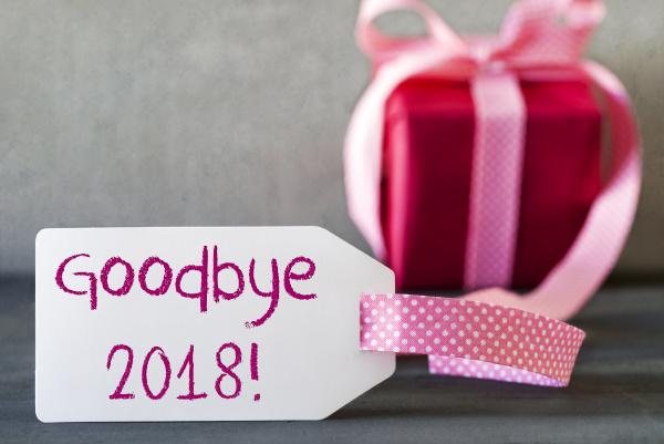 rosa geschenk aufkleber text auf wiedersehen