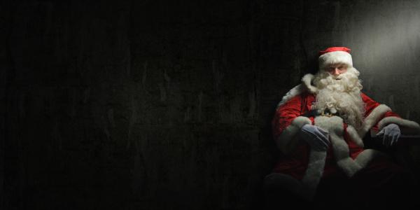 der weihnachtsmann ist betrunken oder hat