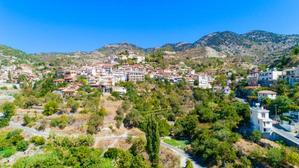 aerial agros dorf limassol zypern
