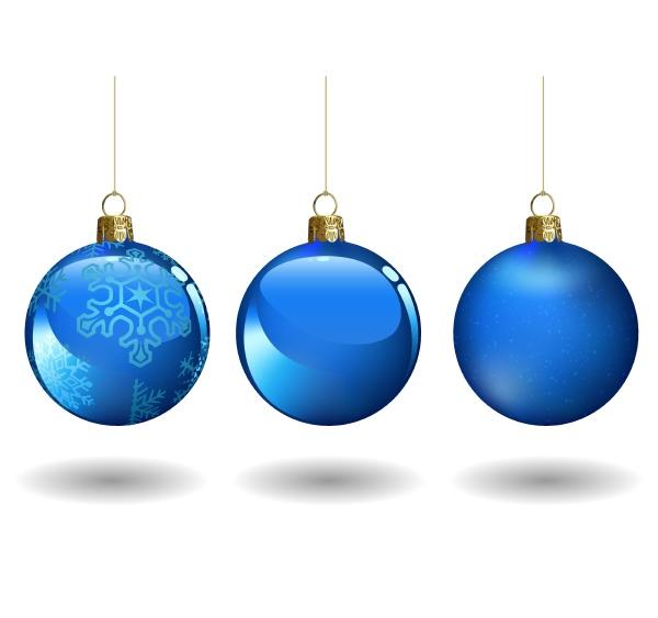 blaues weihnachtsball set