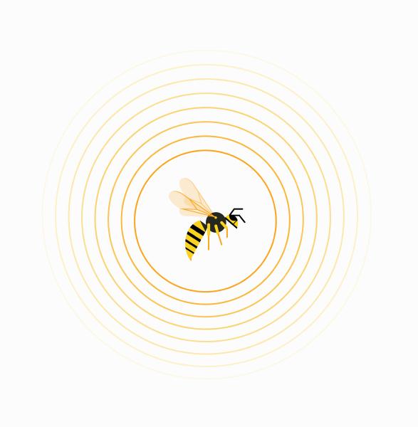 wasp, inside, circle, pattern - 25992706