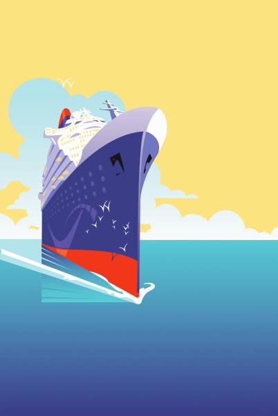 luxus kreuzfahrtschiff segelt in ruhigem ozean