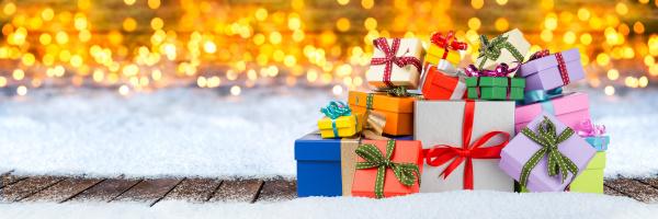 weihnachten geschenk geschenk hintergrund schnee winter