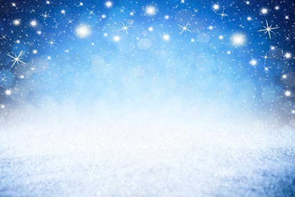 leere blaue sterne nachthimmel winter schnee