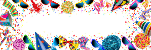 bunt panorama party karneval geburtstagsfeier hintergrund