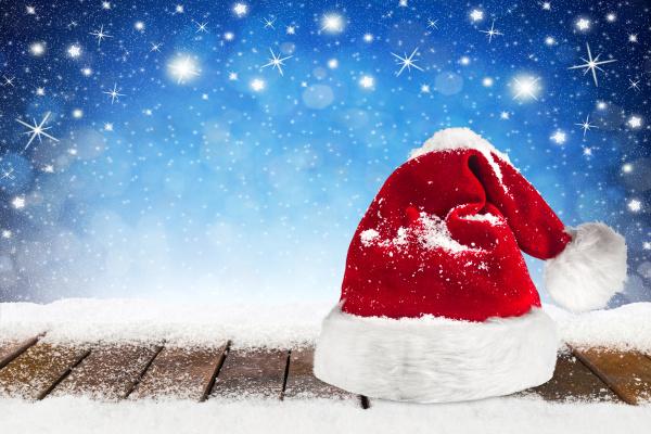 weihnachten xmas hintergrund mit santa claus