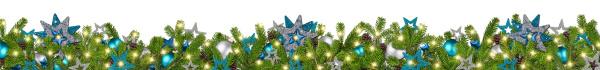 blaue benzin silber weihnachtsgarland super weite