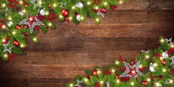 weihnachts weihnachts alten rustikalen eichenholzhintergrund