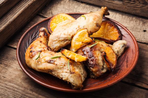 gebackenes huhn mit orangensauce