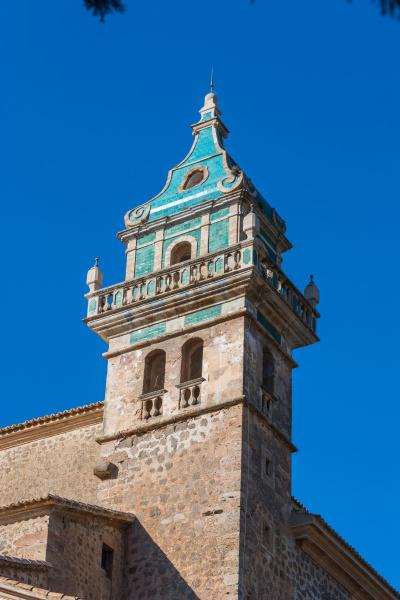 blick auf das kloster valldemossa