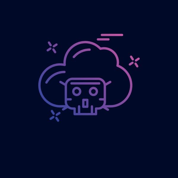 cyber kriminalitaet neon symbol mit blauem