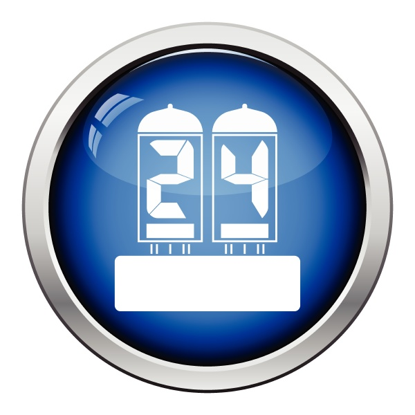 elektrische ziffernlampe symbol glaenzende s taste