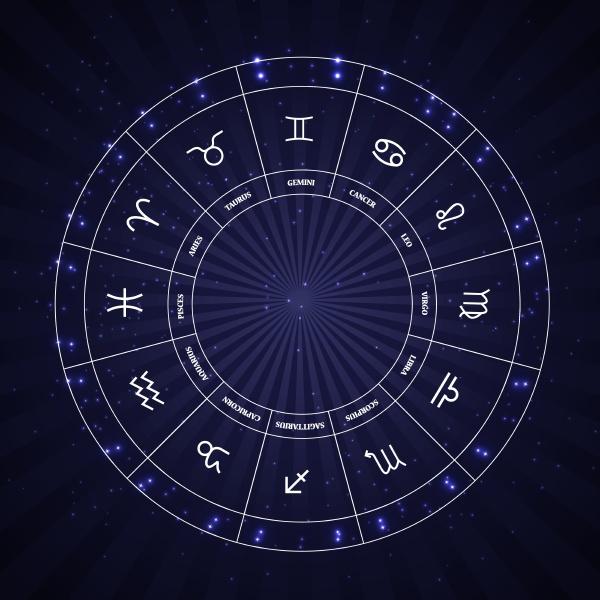 satz von symbol sternzeichen vektor illustration