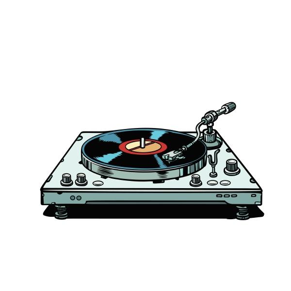 vinyl schallplattenspieler isolieren auf weissem hintergrund