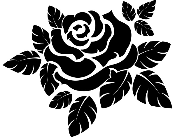 vektor rosen silhouette isoliert auf weiss