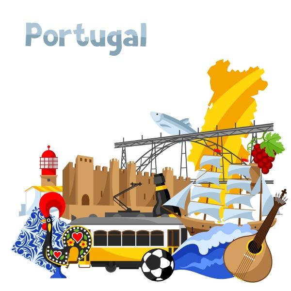 portugal hintergrund design traditionelle traditionelle symbole