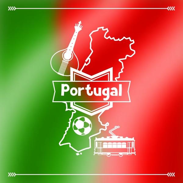 portugal hintergrund design portugiesische traditionelle symbole