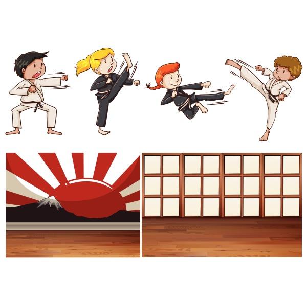 mischen martial art thema mischen martial