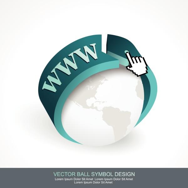 business konzept design mit graukugel und