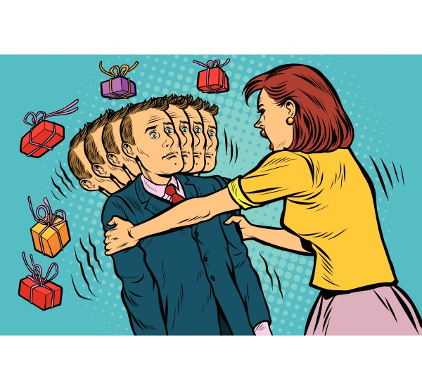 geschenkvoraussetzung die frau schuettelt ihren mann