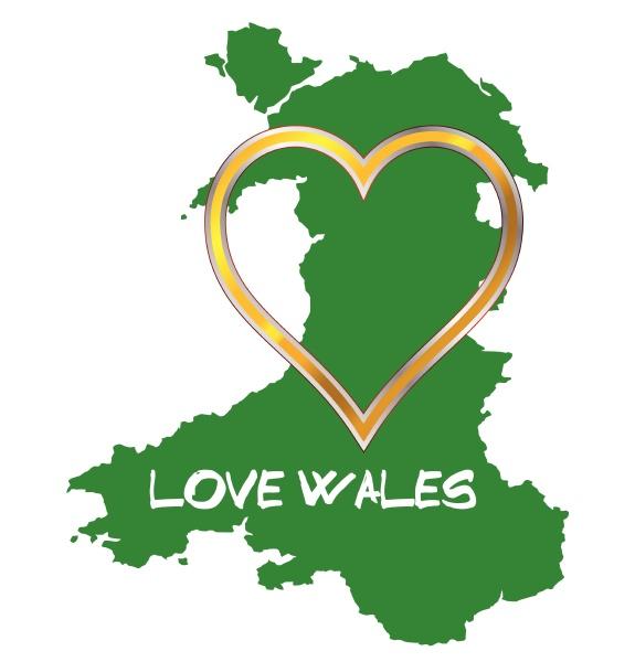 liebe wales karte silhouette herz