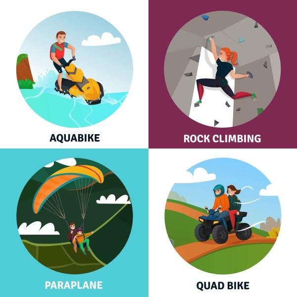 moderne sportkonzept icons set mit klettersymbolen