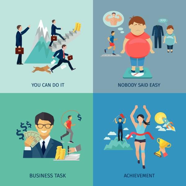 motivationsdesign konzept mit business task und