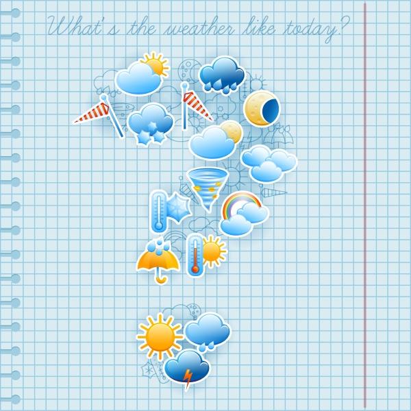 college quadriert notebook seite tag wettervorhersage