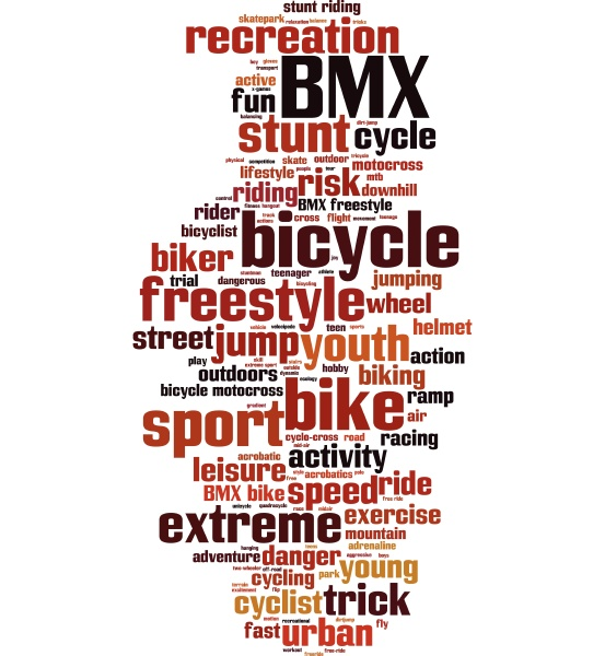 bmx wortwolke