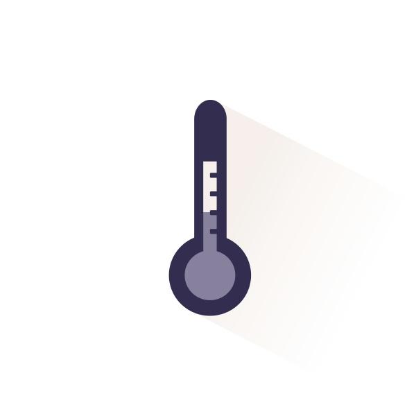 wetter thermometer symbol mit schatten flache