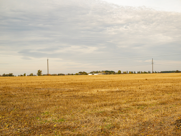 farmfeld, nach, ernte, im, herbst. - 27441586