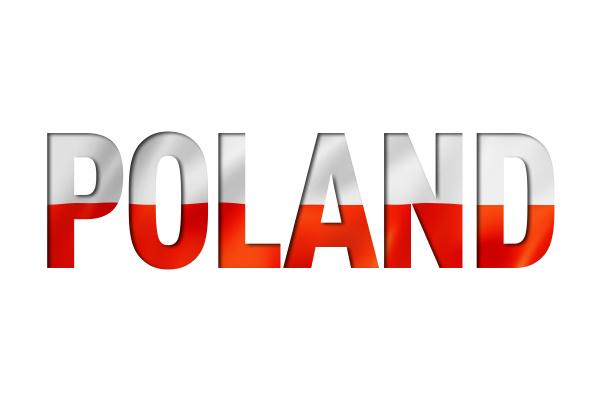 polieren flagge textschriftart polen symbol hintergrund