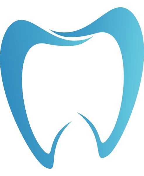 zahn in blau zahnmedizin zahnpflege logo