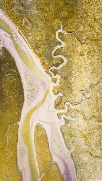 abstrakte luftaufnahme von terschelling feuchtgebieten