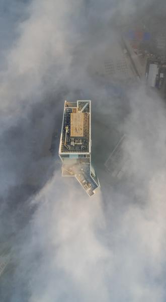 luftaufnahme von wolkenkratzern in den wolken