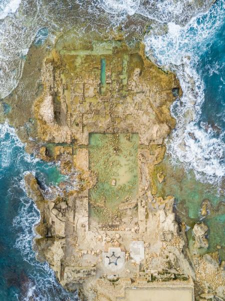 luftbild der ruinen des promontory palace