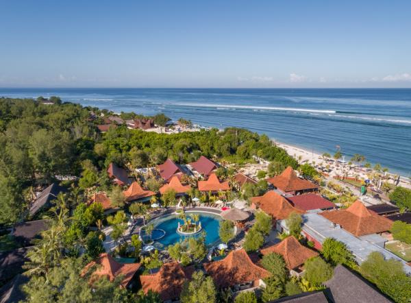 indonesien oben luft strand schoene vogelperspektive