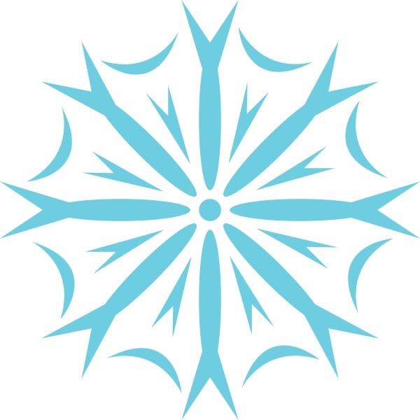 clipart eines schneeflockenvektors oder einer farbillustration