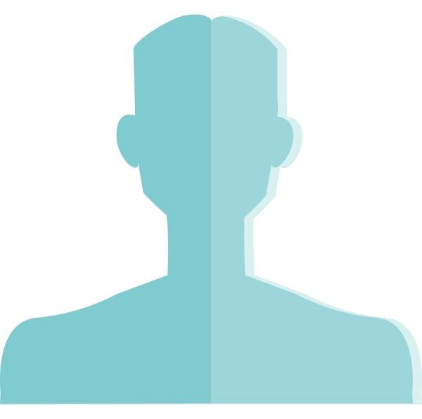 silhouette eines maennlichen mannes vektor oder