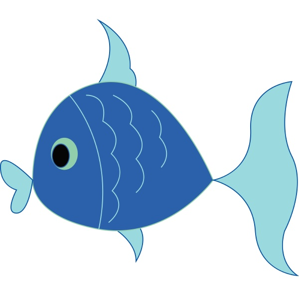 ein kleiner kleiner blauer fisch schwimmt