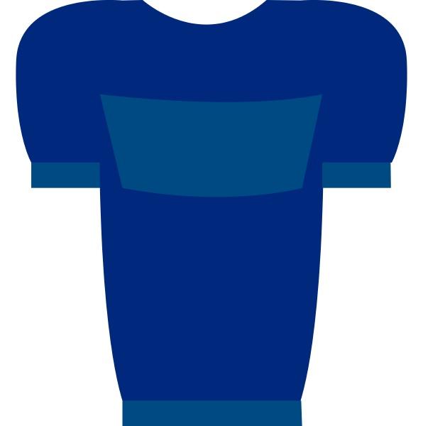 blaues t shirt mit blauem druck