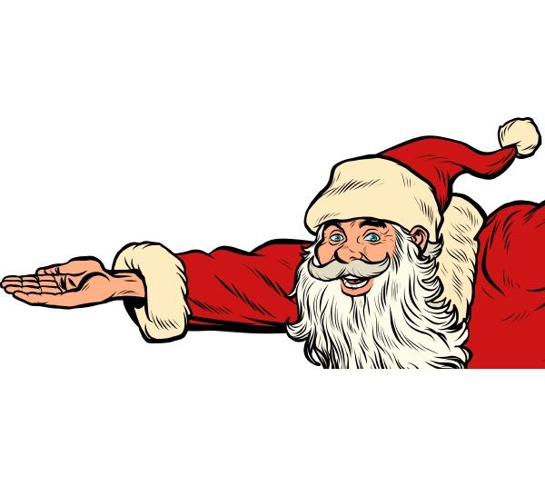 weihnachtsmann hand geschenke weihnachten und neujahr