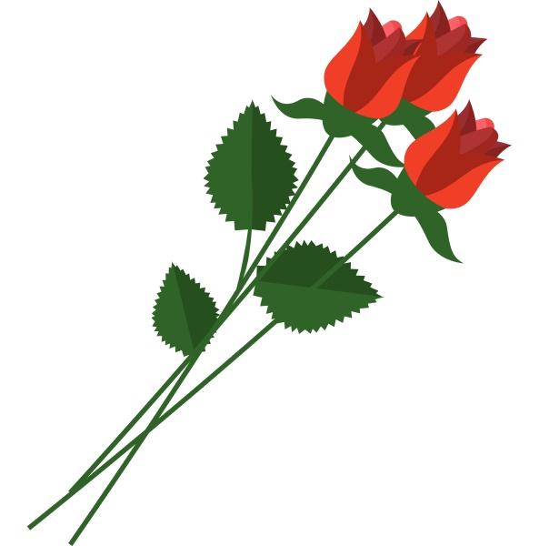 buendel von roten rosen mit schoenen