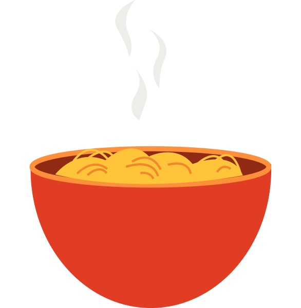spaghetti in orange schale vektor oder