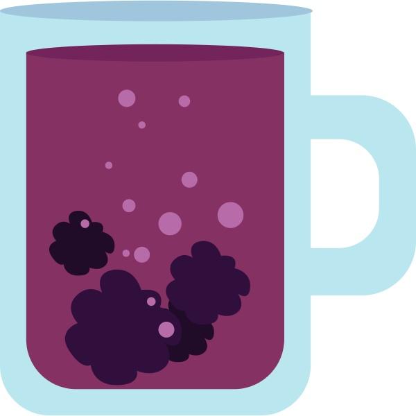 image, of, blackberry, tea, , vector, or - 27513658
