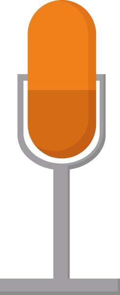 orange mikrofon illustration vektor auf weissem